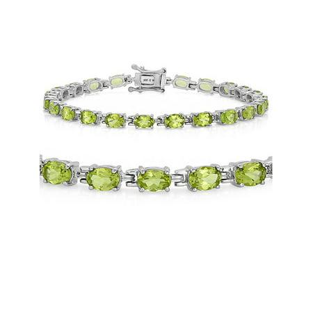 Gemstone Tennis Bracelet in Sterling Silver Choose from Blue Topaz or - Stunning Peridot Bracelet