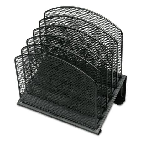 - Universal Metal Mesh Tiered File Sorter, 11 1/4 x 7 1/4 x 12, Black