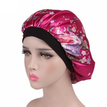 Sleeping Cap,Kapmore Multi-purpose Printed Wide Brim Night Sleep Cap Bonnet Cap Cancer Hat Chemo Cap Turban Head Hair Loss Hat - Funny Hats With Hair