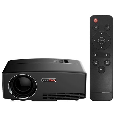 LED Projector 1800 lumens Contrast Ratio 2200:1 : 1 Full HD 1080P