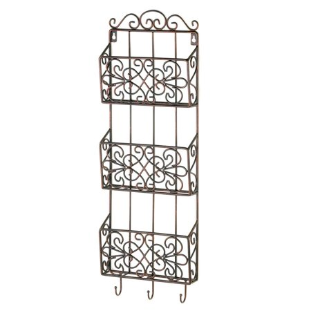Magazine Rack Wall Mount, Metal Grid Decorative Wall Rack