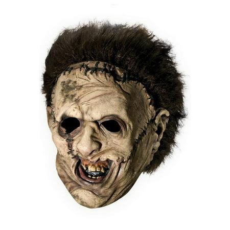 Texas Chainsaw Massacre Leatherface Deluxe 3/4 Adult Mask - Leatherface Masks