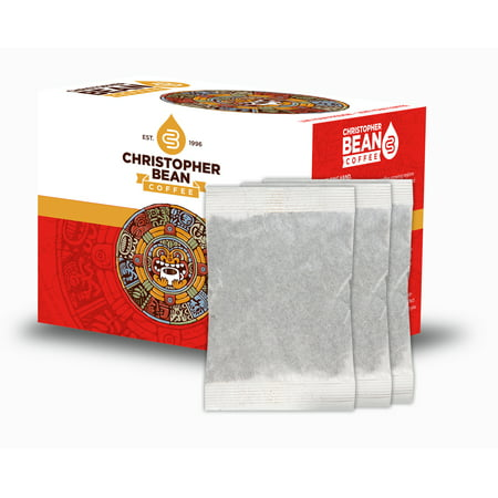 Iced Tea Gallon Family Size Tea Bags, Christopher Bean Southern Style Black Tea, Unsweetened - 18 Count Box Cylinder Style Iced Tea