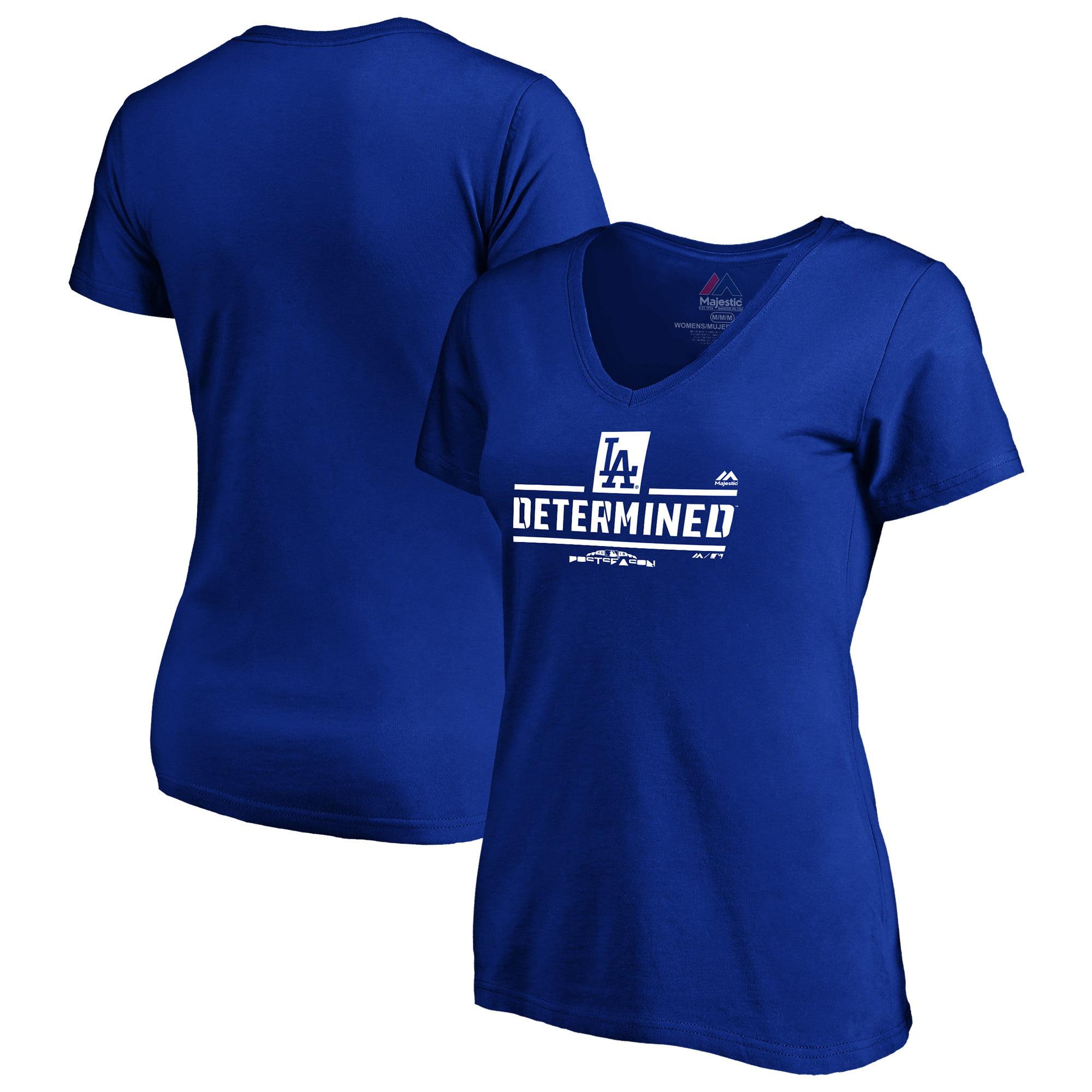 Los Angeles Dodgers Majestic Women's 2018 Postseason Authentic Collection T-Shirt - Royal