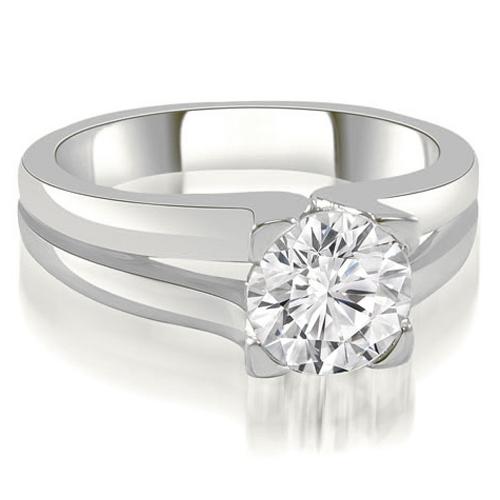 """""""0.45 cttw. 14K White Gold Thick Split Shank Round Diamond Engagement Ring (I1, H-I)"""""""