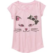 """Girls' """"Twinkle-Tees"""" Short Sleeve T-Shirt with Sequin Art"""