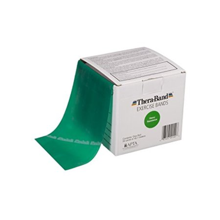 TheraBand Professional Latex Resistance Bands For Upper and Lower Body Exercise, Physical Therapy, Lower Pilates, At-Home Workouts, and Rehab, 50 Yard Roll, Green, Heavy, Intermediate Level 1 - image 1 de 1