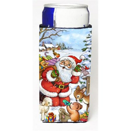 Christmas Santa Forrest Friends Michelob Ultra Can coolers for Slim