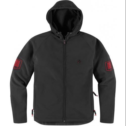 Icon 1000 Hoodlux Softshell Jacket Pursuit Black