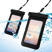 GEARONIC Black Waterproof Pouch Dry Bag Protector Skin Case Cover w/ Arm Band for iPhone SE & 5 5S Galaxy S4 S5 Note 2 3