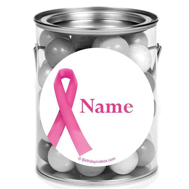 Costume Supercenter BB1424PCM Pink Ribbon Personalized Mini Paint Cans