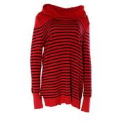 Lauren Ralph Lauren NEW Red Striped Women's Size Medium M Cowl Neck Sweater $99