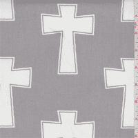 Cross Sterling Grey Twill, Fabric By the Yard