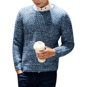 Azzuro Men's Pullover Long Sleeves Round Neck Slim Fit Sweaters (Size S / 36)