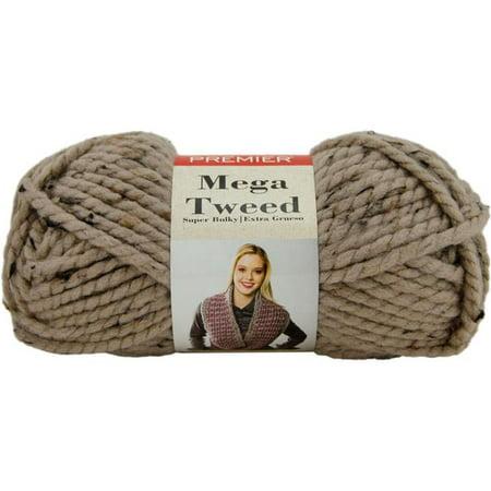 Tweed Tab (Tan Tweed - Premier Yarns Mega Tweed Yarn )