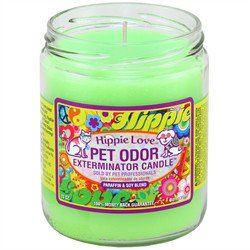 Pet Odor Exterminator Candle - Hippie Love Jar (13 - Pet Candle
