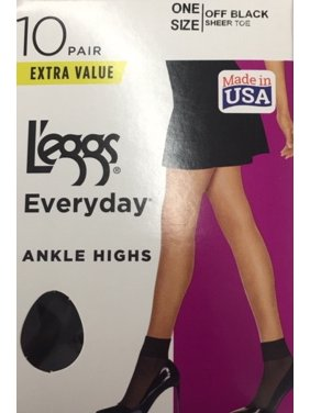 Hanes L'eggs Women's Everyday Ankle Highs, 10 Pair