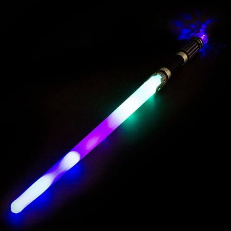 Light-Up Samurai Saber Sword Stick LED Flashing Ninja Ball Lightsaber Multicolor - Light Saber Swords