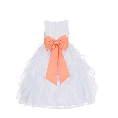 bbecc84d1f2 Ekidsbridal White Ruffled Organza Flower Girl Dress Toddler Girl Dresses  Birthday Girl Dress Easter Summer Dresses Junior Bridesmaid Dress Daily  Dresses ...