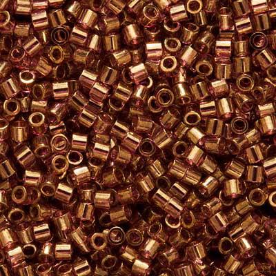 Miyuki Delica Seed Beads, 15/0 Size, 50 Gram Bulk Bag, Transparent Amethyst Gold Luster DBS108](Seed Beads Bulk)
