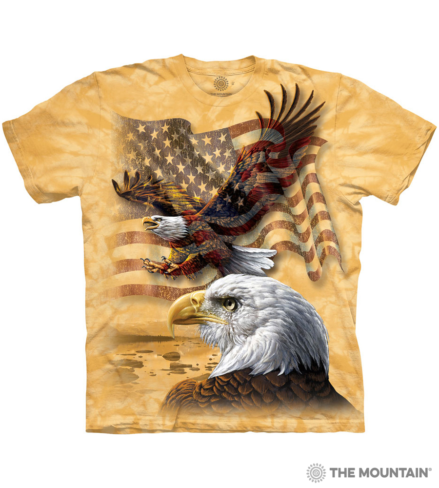 6b2a3e64b The Mountain EAGLE FLAG COLLAGE Adult Unisex T-Shirt