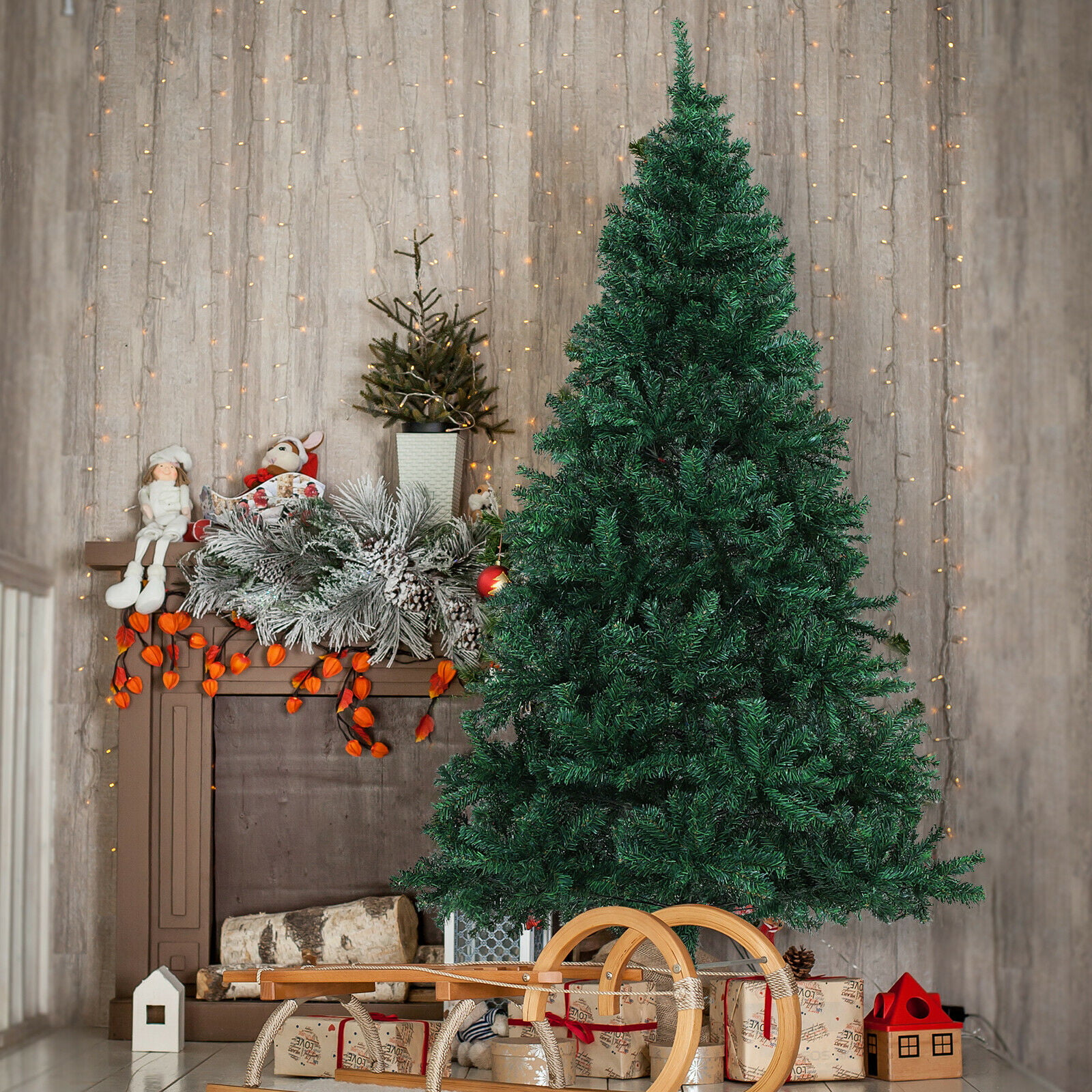 6' Unlit Spruce Artificial Christmas Tree with Metal Stand ...