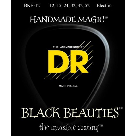 DR Strings Extra Life BKE-12 Black Beauties Extra Heavy Coated Electric Guitar
