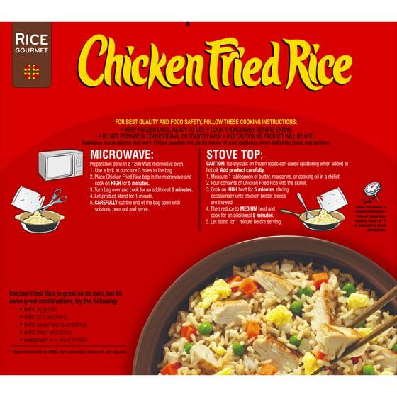 Rice Gourmet Chicken Fried Rice 48 Oz Box Walmart
