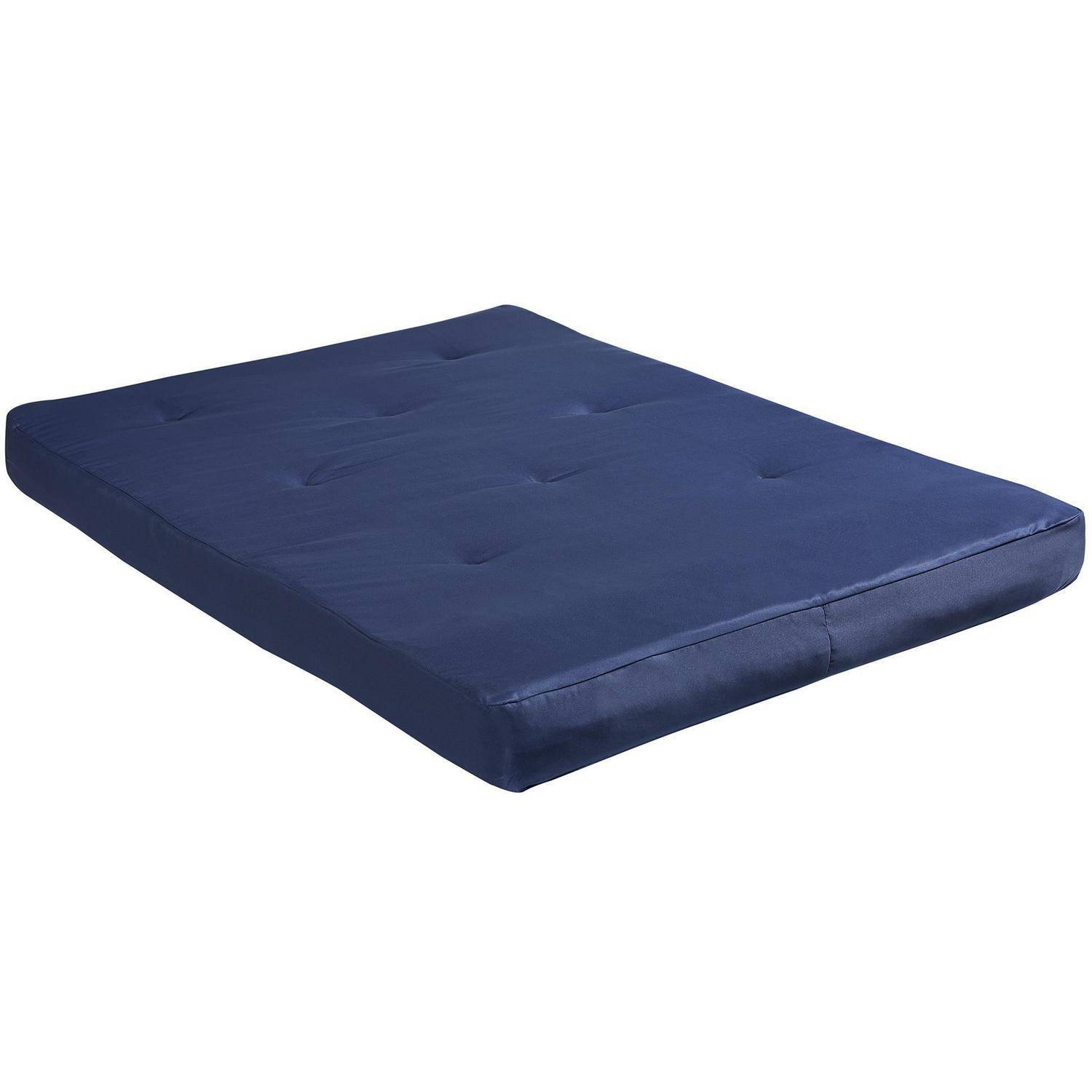 "dorel home 8"" full-size futon mattress, navy - walmart"