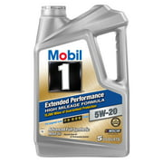 (3 Pack) Mobil 1 Extended Performance High Mileage Formula 5W20, 5 qt