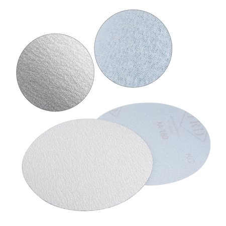 10 Pcs 6-Inch Aluminum Oxide White Dry Hook and Loop Sanding Discs 180 Grit - image 4 of 5