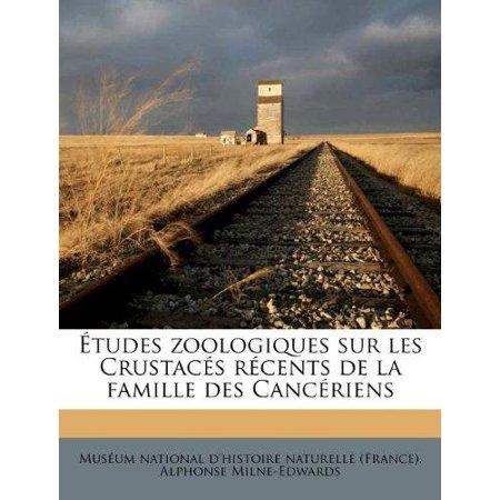Etudes zoologiques sur les Crustaces recents de la famille des Canceriens (French Edition) - image 1 de 1
