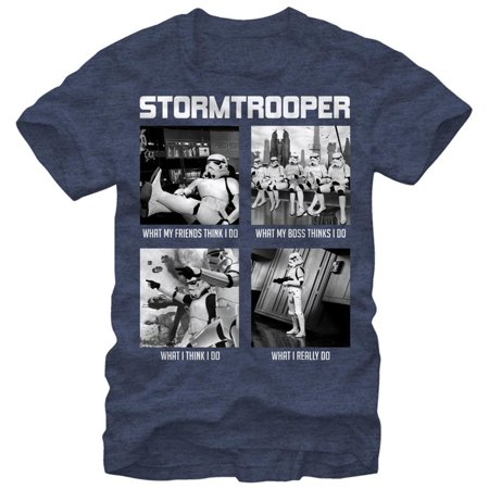Star Wars- What a Troopers Does Apparel T-Shirt - Blue (Advance Wars Shirt)