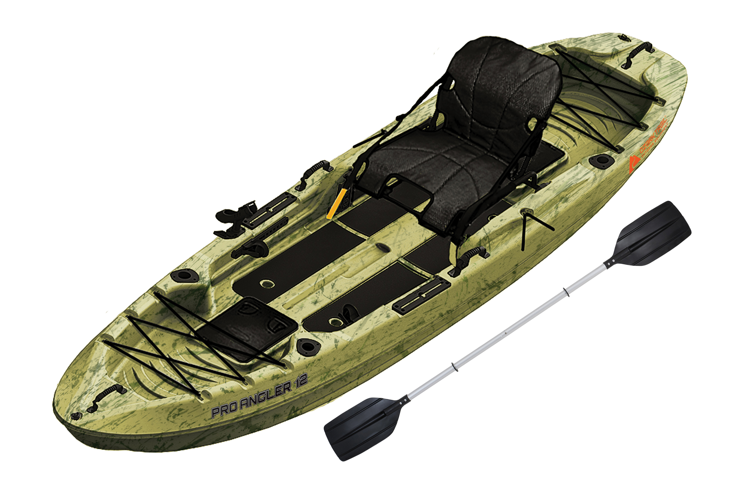 Ozark Trail 12' Pro Angler Kayak, Grass Camo with Paddle - Walmart