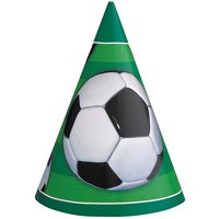 Soccer Party Hats, 8-Count