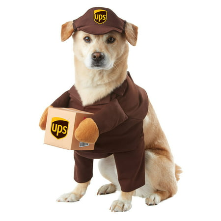 California Costumes UPS Pal Pet Dog Costume Mail Delivery Guy Halloween  XS-LG