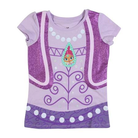 - Shimmer & Shine Toddler Lavender Short-Sleeve Puff T-Shirt