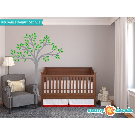 Beautiful Tree Fabric Wall Decal, Tree Wall Décor - 20 Color Options-Multi-Color/