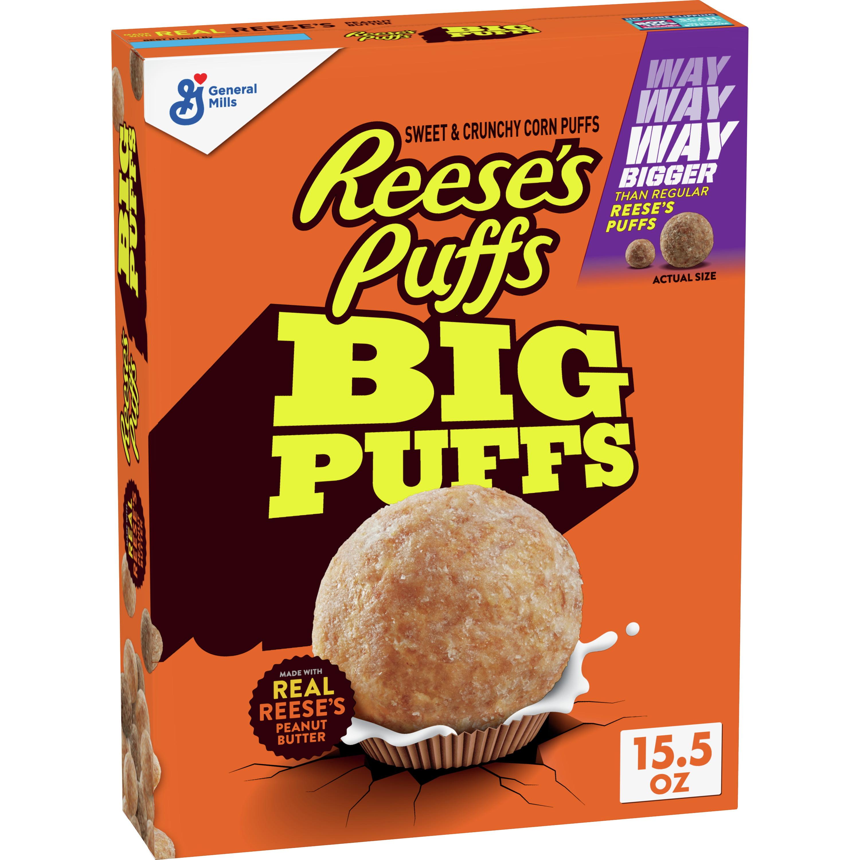 Reese's Puffs Big Puffs Cereal, 15.5 oz Box - Walmart.com ...
