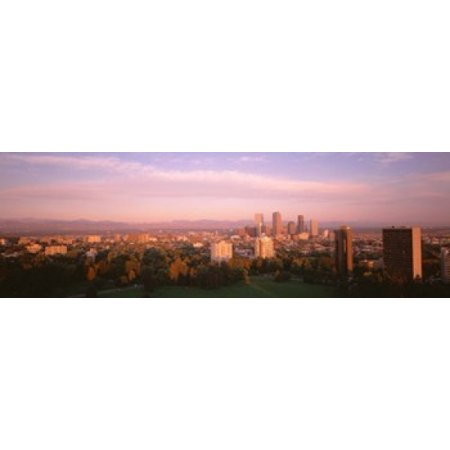 Denver Co Canvas Art   Panoramic Images  36 X 12