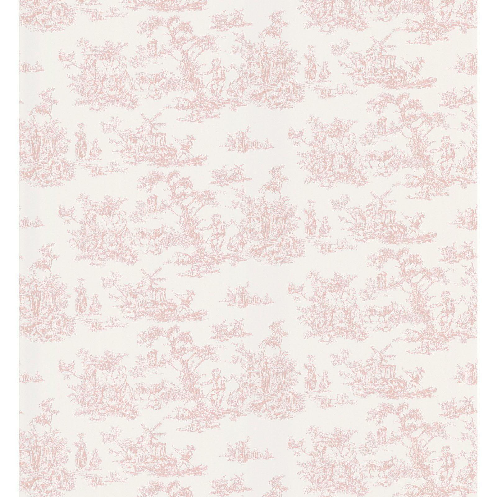 Brewster Maxine Toile Wallpaper