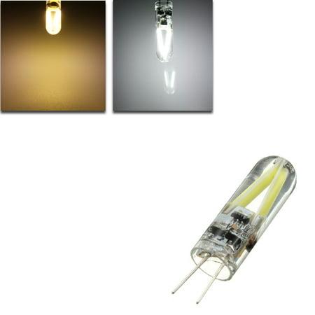 G4 1.5W Filament COB AC/DC 12V LED Warm White/White Spotlight Chandelier Light Bulb Lamp