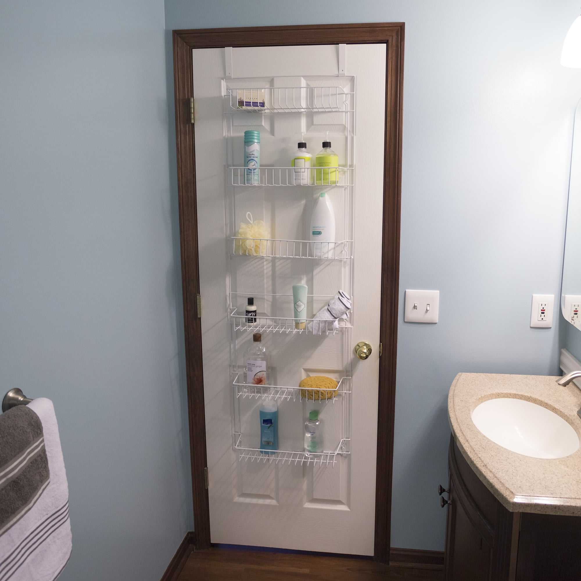 Bathroom Organizer With 6 Shelves