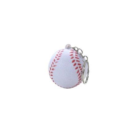 Mini Baseball Car Keyring Sports Ball Keychain Foam Key Chain Ring Bag Pendant Clip Sport Ball Keychains