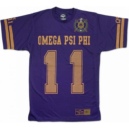Omega Psi Phi Divine 9 Mens Jersey Tee  Purple   3Xl