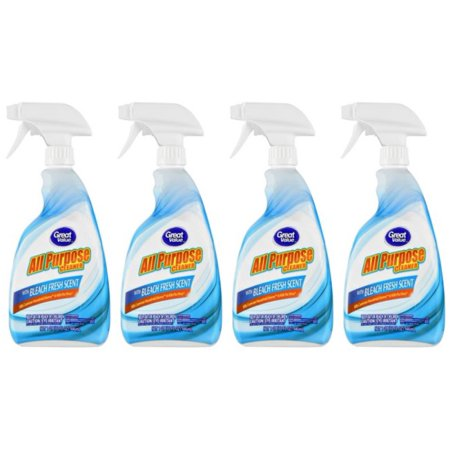 Bleach Cleaner - (4 Pack) Great Value Fresh Scent All Purpose Cleaner with Bleach, 32 fl oz