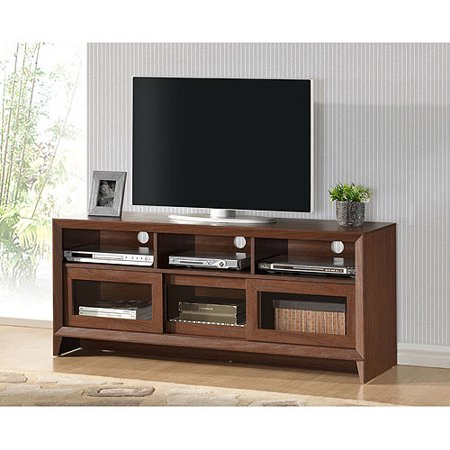 Techni Mobili Aruba Hickory TV Stand for TVs up to 60″