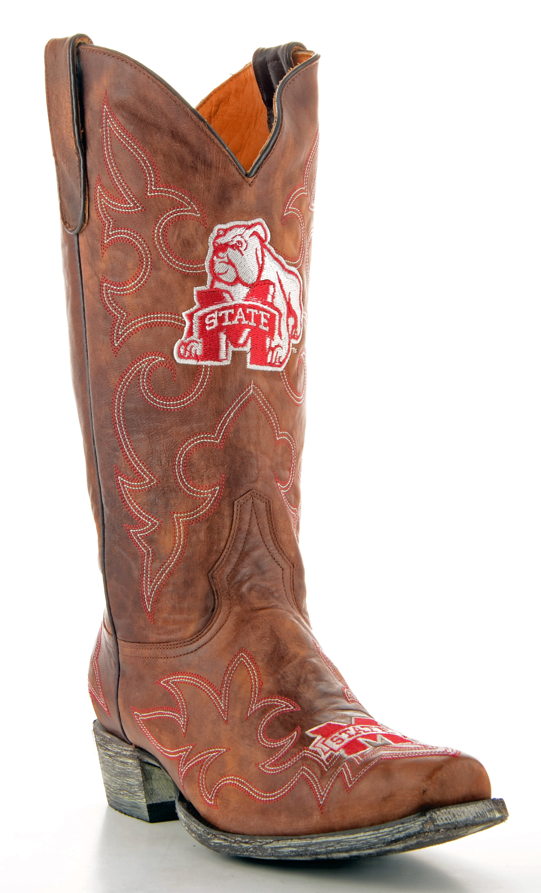 Gameday Boots Mens Leather Mississippi State Cowboy Boots by GameDay Boots