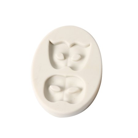1 Pcs Party 2 Masks Silicone Fondant Mold Chocolate Molds for Cake Decorating Sugarcraft Resin Polymer Clay - image 1 de 5