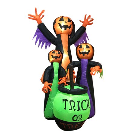 Trick Or Treat Studios Halloween 6 (ALEKO Halloween Inflatable Trick Or Treat Pumpkin Witches - 6)